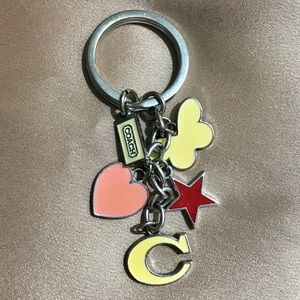 Coach | Bag Charm - Star & Heart Keyring